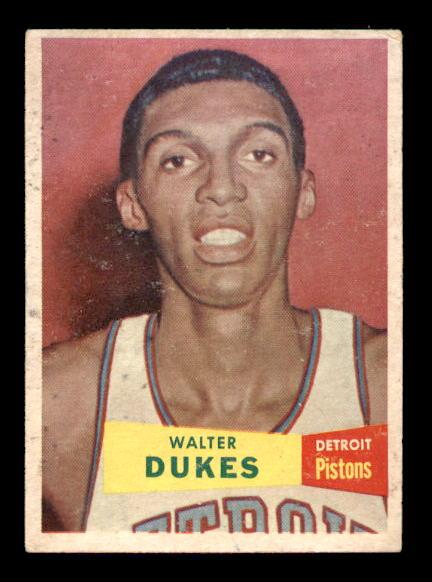 1957-58 Topps #30 Walter Dukes DP RC