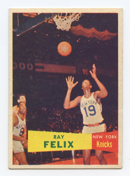 1957-58 Topps #35 Ray Felix RC