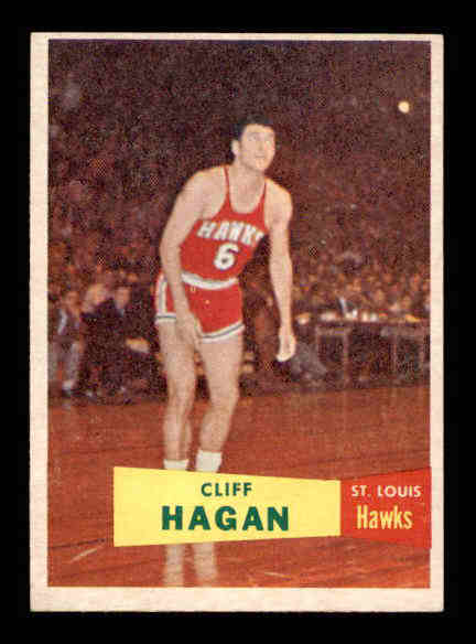 1957-58 Topps #37 Cliff Hagan RC