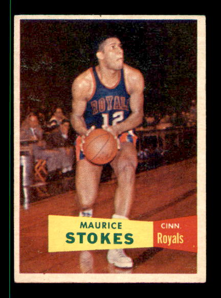 1957-58 Topps #42 Maurice Stokes DP RC UER/Text refers to NFL Record