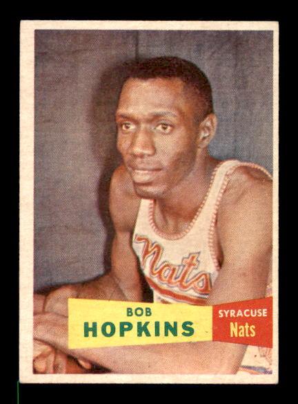 1957-58 Topps #53 Bob Hopkins RC