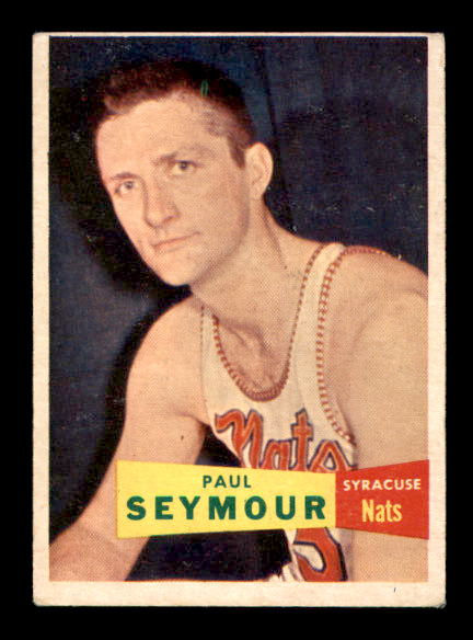 1957-58 Topps #72 Paul Seymour RC