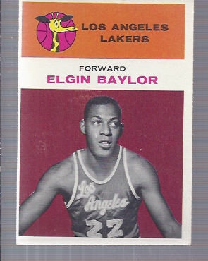 1961-62 Fleer #3 Elgin Baylor RC
