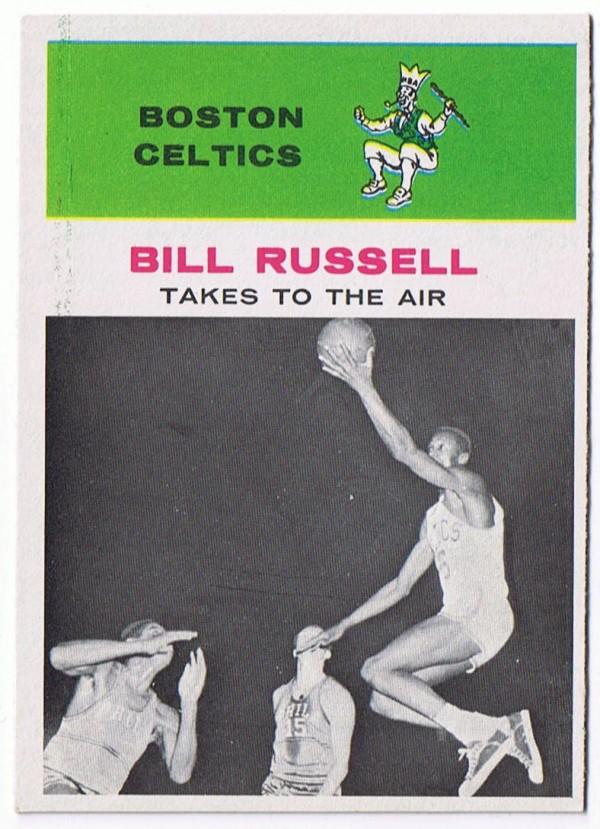 1961-62 Fleer #62 Bill Russell IA !