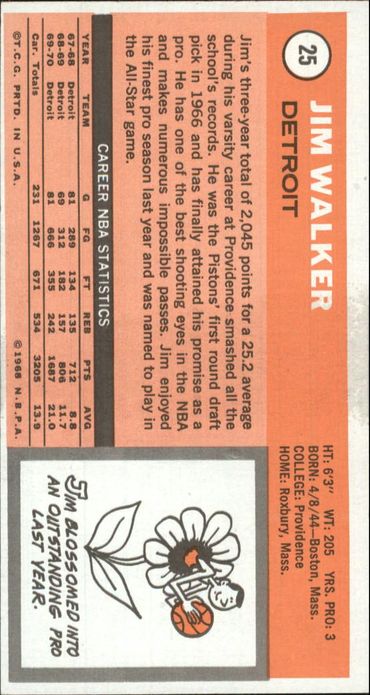 1970-71 Topps #25 Jimmy Walker back image
