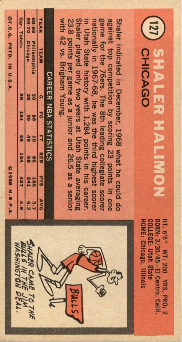 1970-71 Topps #127 Shaler Halimon back image