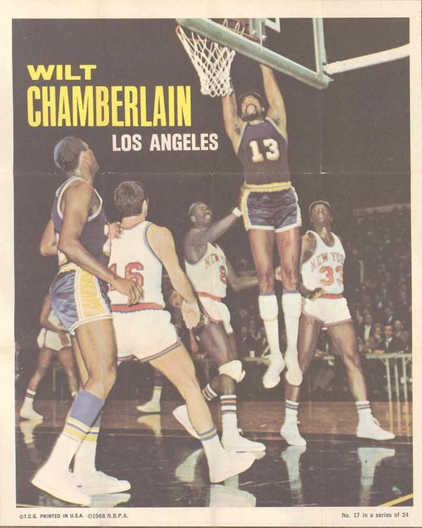 1970-71 Topps Poster #17 Wilt Chamberlain