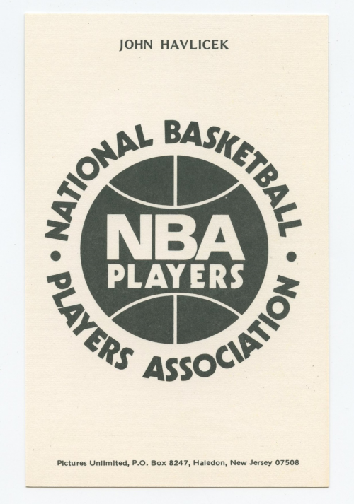 1973-74 NBA Players Association #11 John Havlicek back image
