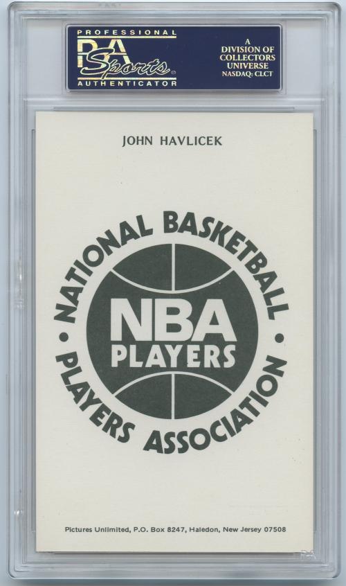1973-74 NBA Players Association #11 John Havlicek back image