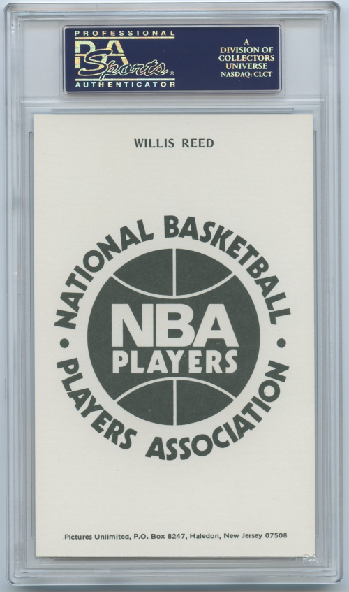 1973-74 NBA Players Association #24 Willis Reed SP back image