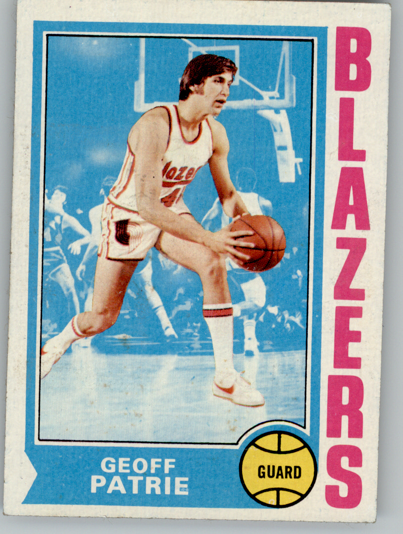 1974 75 Topps 110 Geoff Petrie UER Misspelled Patrie on card