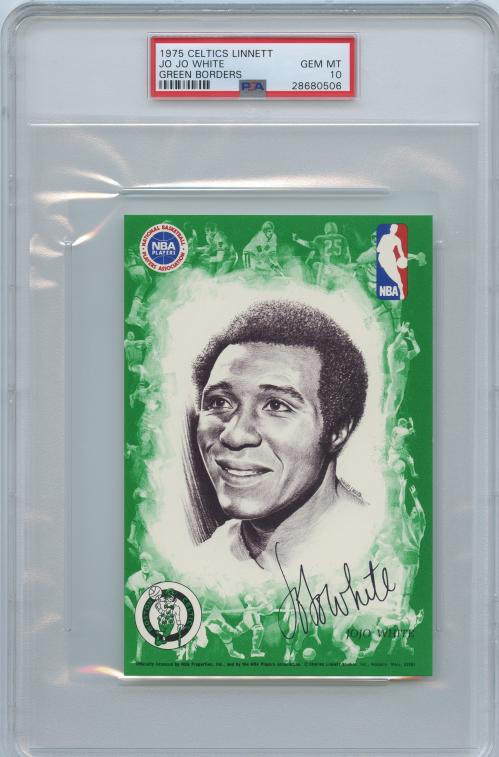 1975-76 Celtics Linnett Green Borders #3 Jo Jo White