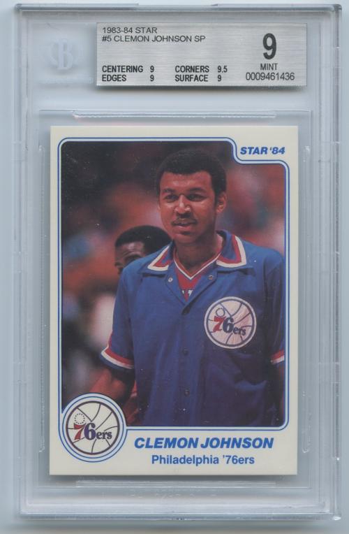 1983-84 Star #5 Clemon Johnson SP
