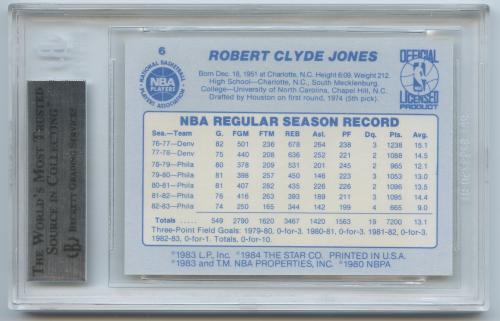 1983-84 Star #6 Bobby Jones SP back image