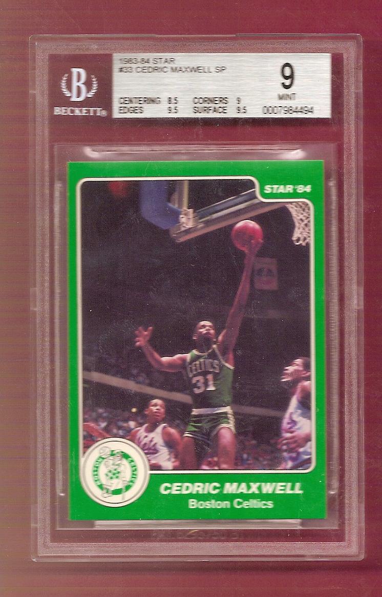 1983-84 Star #33 Cedric Maxwell SP