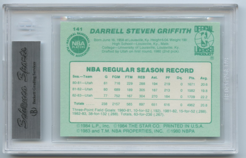 1983-84 Star #141 Darrell Griffith back image