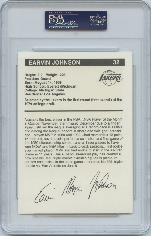 1983-84 Lakers BASF #4 Magic Johnson back image