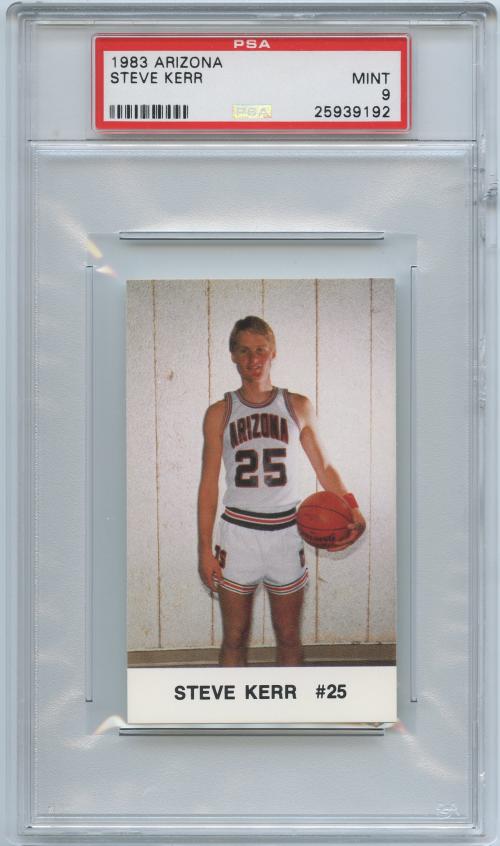1983-84 Arizona #9 Steve Kerr 25