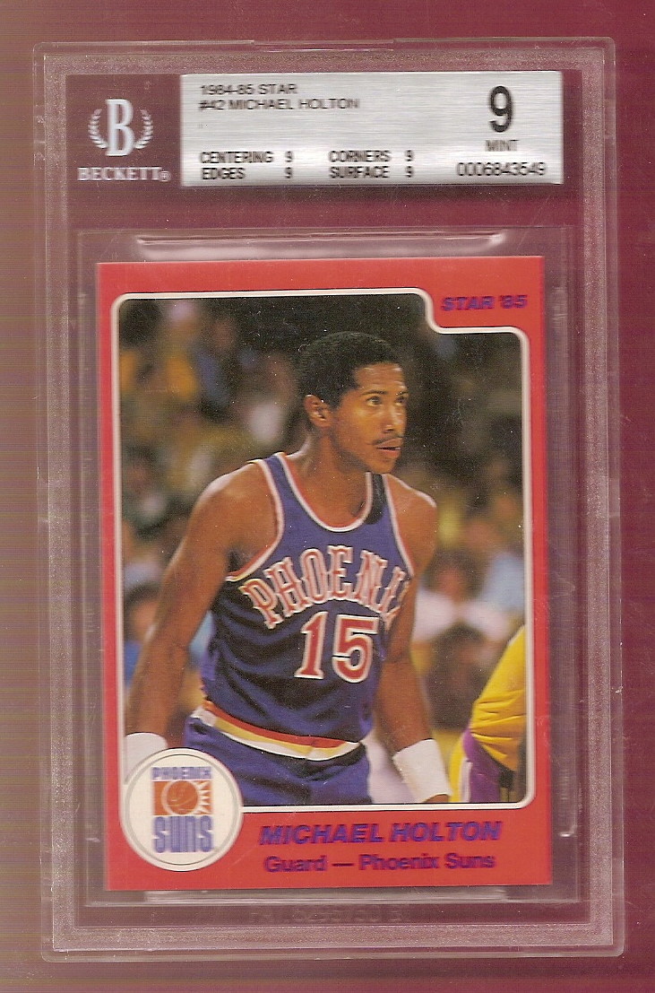 1984-85 Star #42 Michael Holton