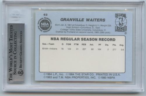 1984-85 Star #62 Granville Waiters back image