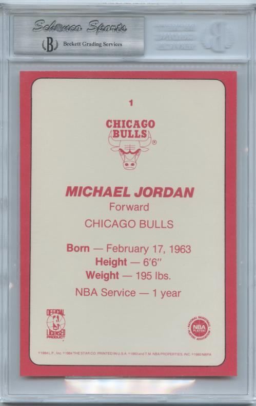 1985 Star Team Supers 5x7 #CB1 Michael Jordan back image