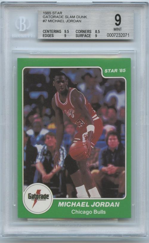 1985 Star Gatorade Slam Dunk #7 Michael Jordan