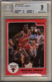 1985 86 Star 117 Michael Jordan Graded Bgs Mint 9