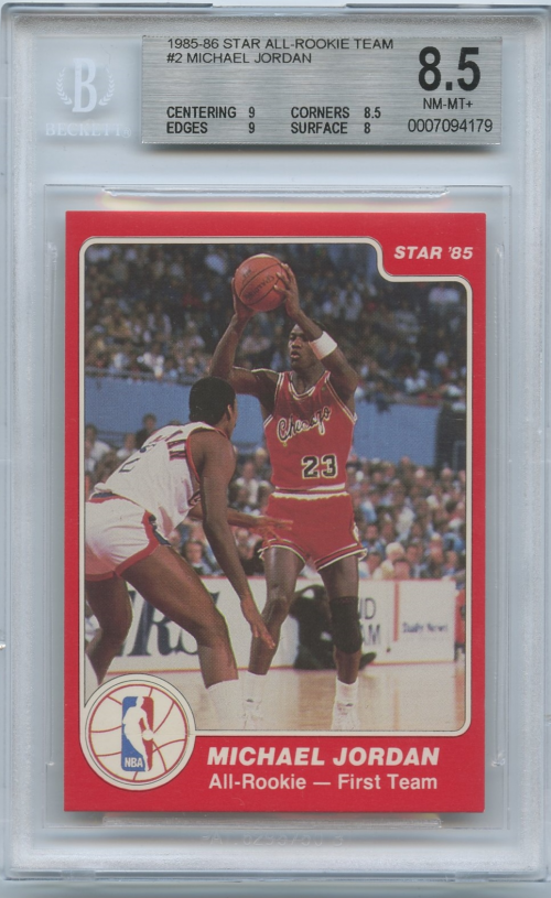 1985-86 Star All-Rookie Team #2 Michael Jordan