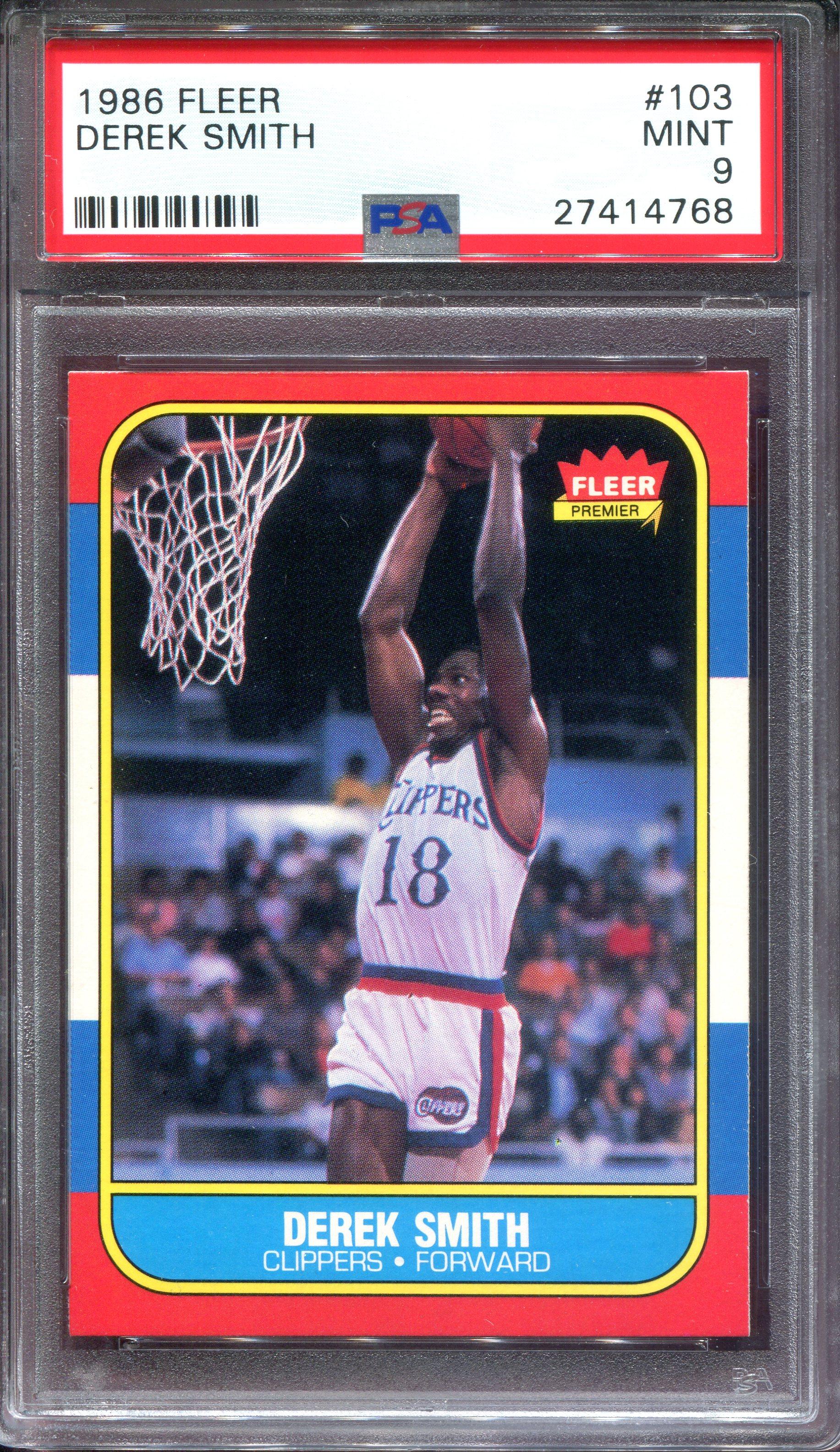 1986-87 Fleer #103 Derek Smith