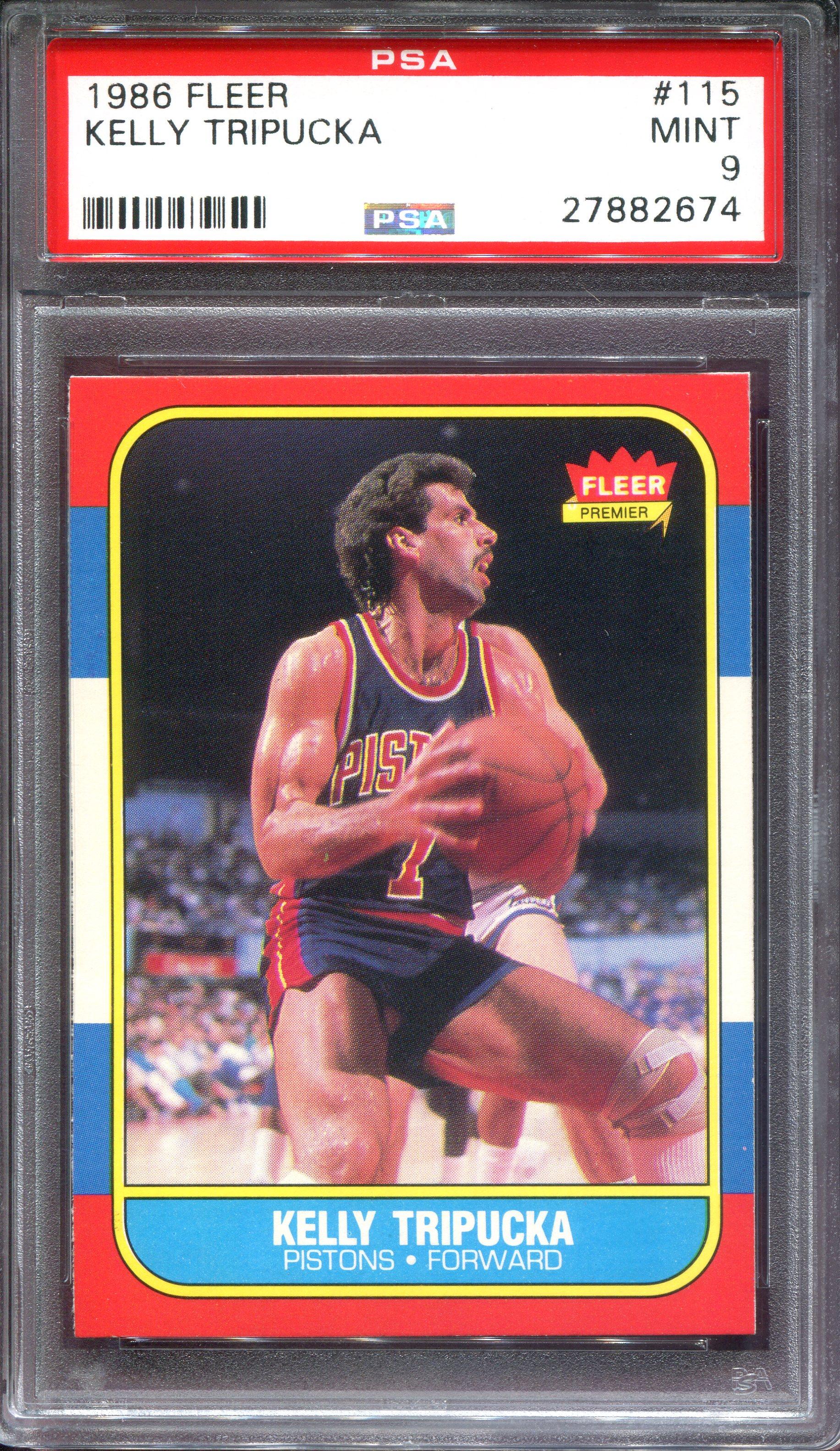 1986-87 Fleer #115 Kelly Tripucka RC