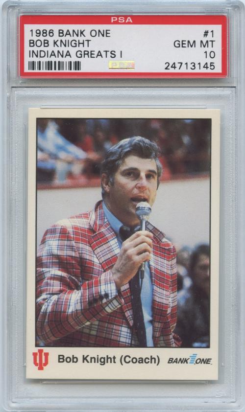 1986-87 Indiana Greats I #1 Bobby Knight CO