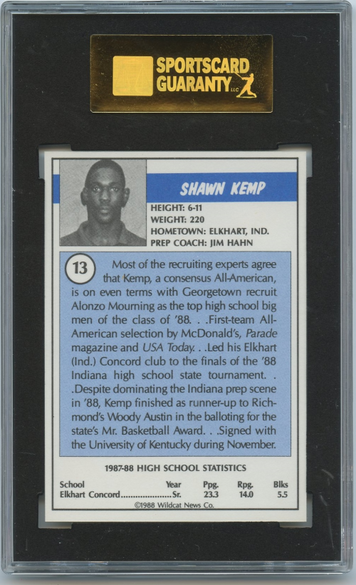 1988 Kentucky Soviet Program Insert #13 Shawn Kemp back image