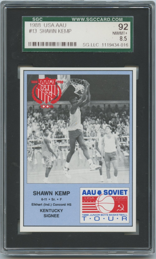 1988 Kentucky Soviet Program Insert #13 Shawn Kemp