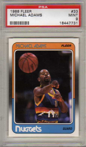 1988-89 Fleer #33 Michael Adams RC