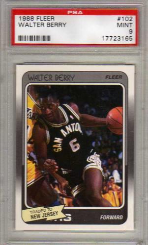 1988-89 Fleer #102 Walter Berry RC