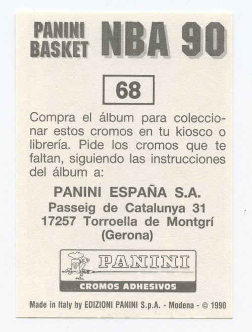 1989-90 Panini Stickers Spanish #68 Scottie Pippen back image