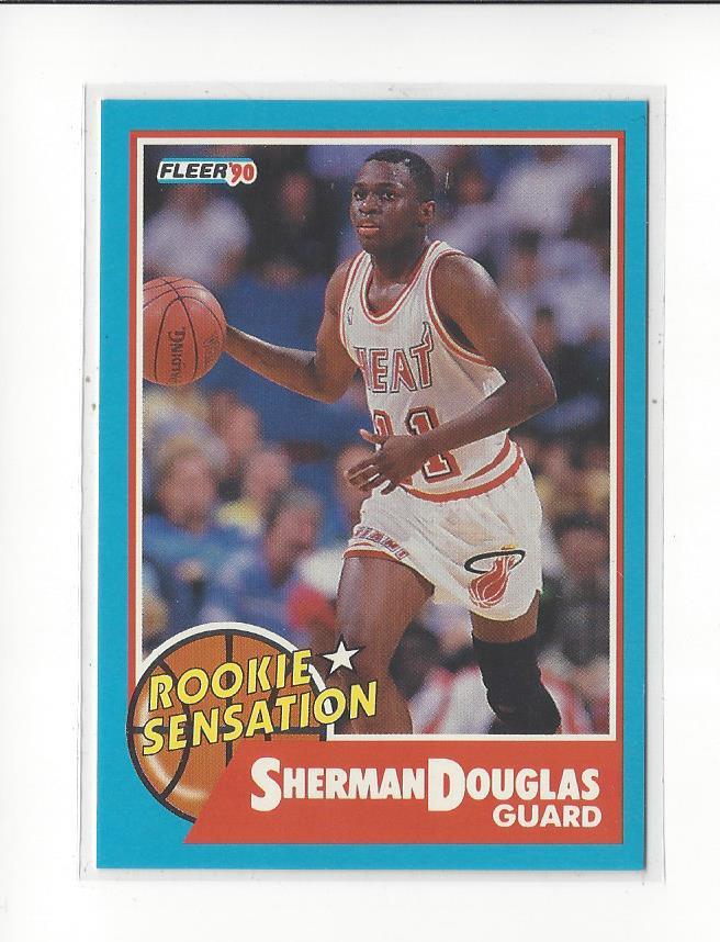 18d1a7c1c34 1990-91 Fleer Rookie Sensations  10 Sherman Douglas