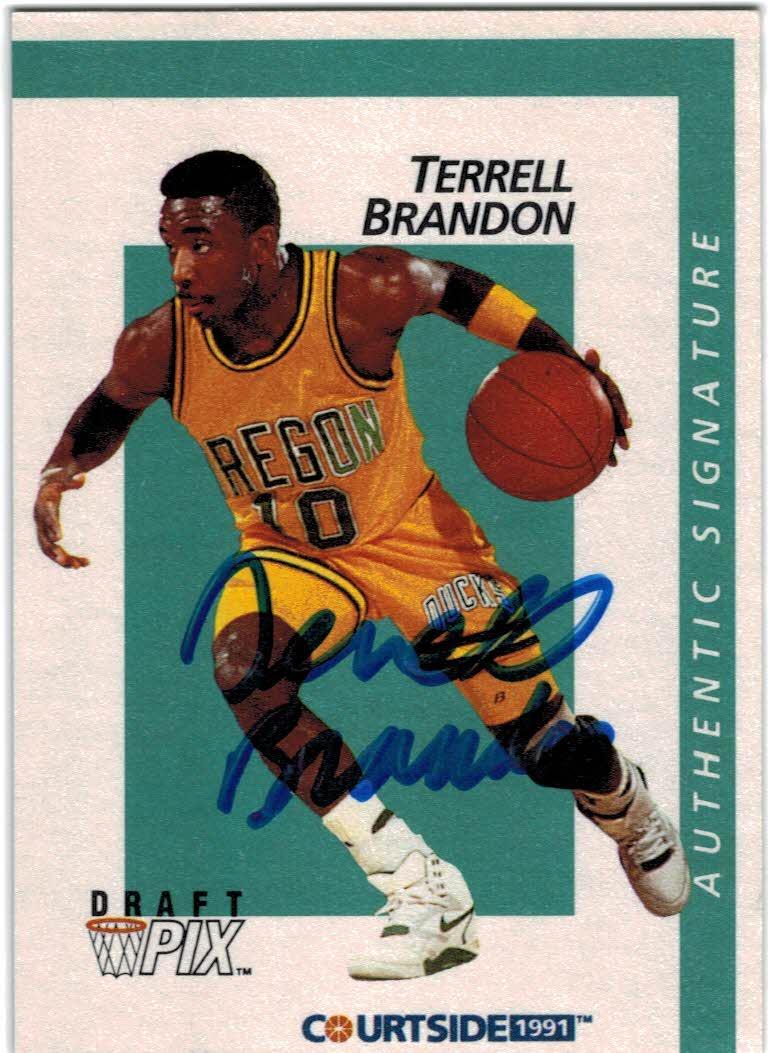 1991 Courtside Autographs #6 Terrell Brandon