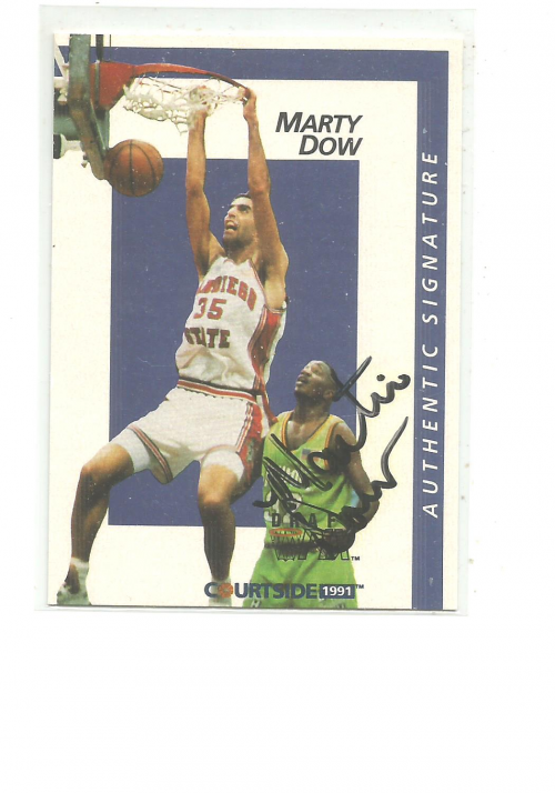 1991 Courtside Autographs #16 Marty Dow
