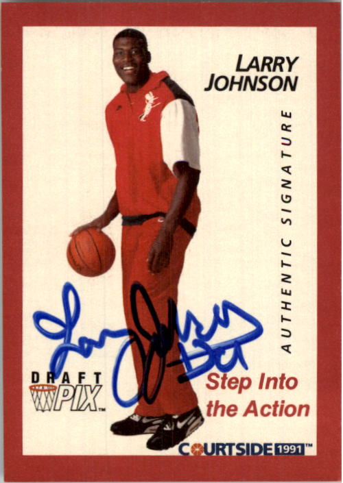 1991 Courtside Autographs #45 Larry Johnson POY