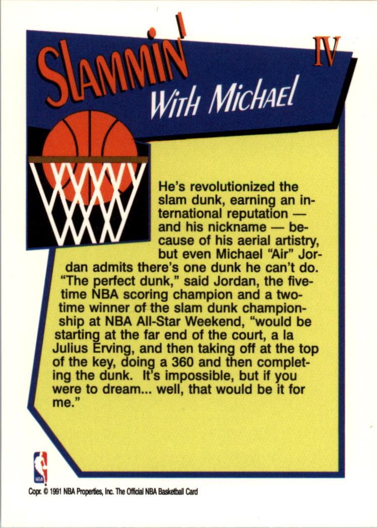 1991-92 Hoops Slam Dunk #4 Michael Jordan back image