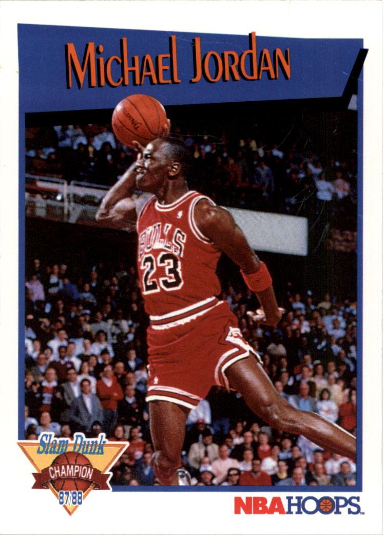 1991-92 Hoops Slam Dunk #4 Michael Jordan