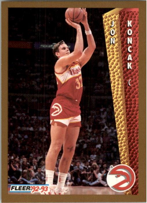 1992-93 Fleer #4A Jon Koncak#(Shooting pose on back
