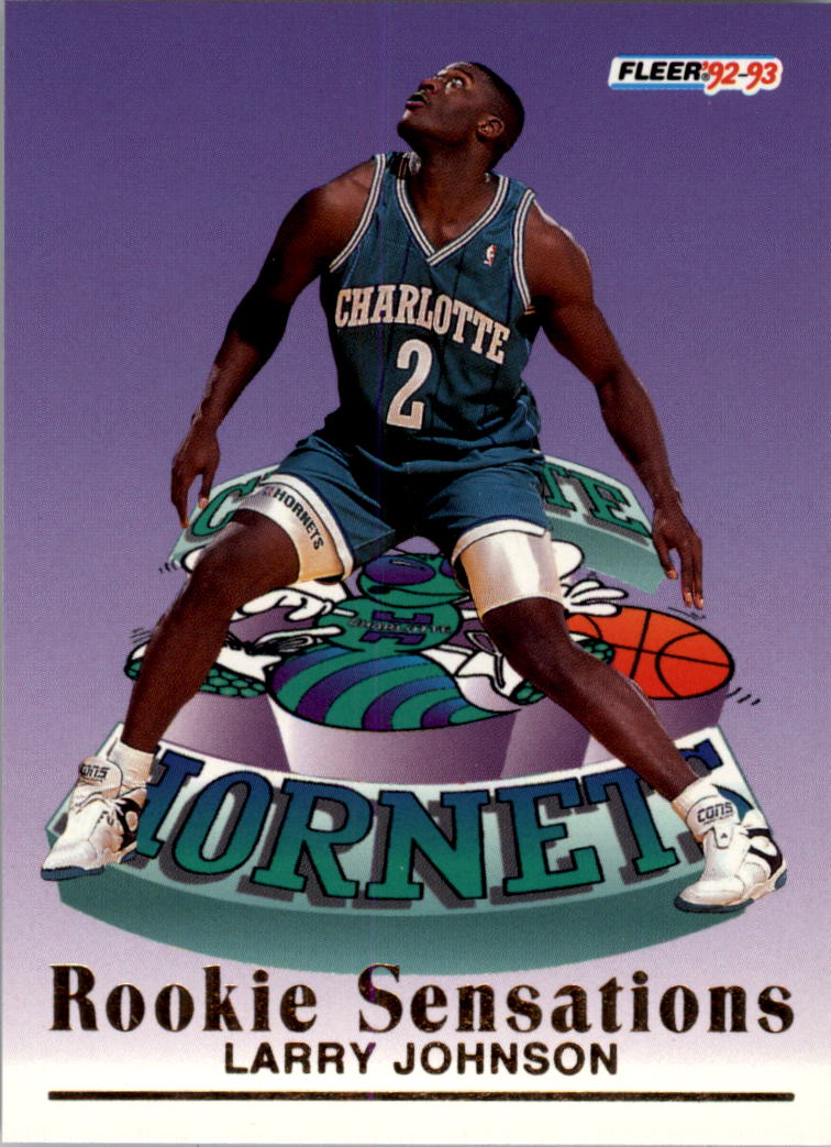 1992 93 Fleer Rookie Sensations 5 Larry Johnson Nm Mt