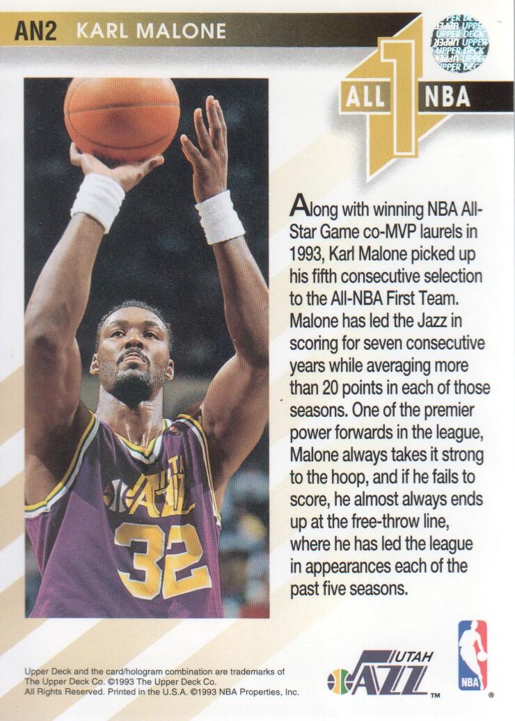 1993-94-Upper-Deck-All-NBA-Basketball-Cards-Pick-From-List thumbnail 3
