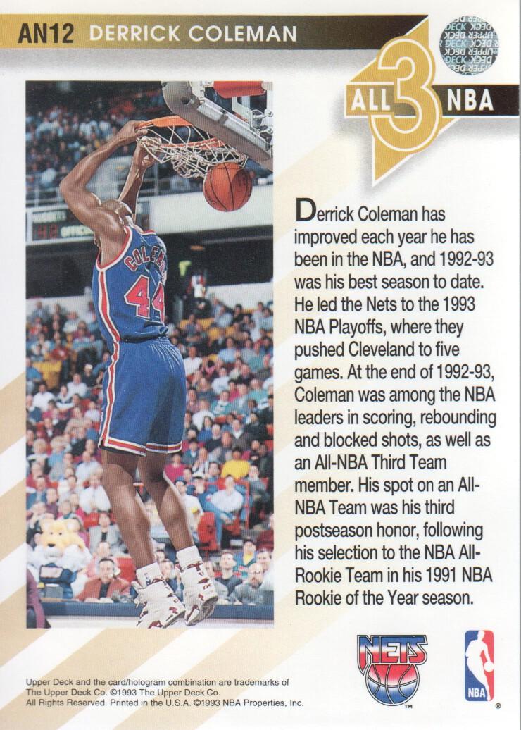 1993-94-Upper-Deck-All-NBA-Basketball-Cards-Pick-From-List thumbnail 13