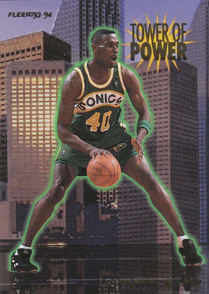 1993-94 Fleer Towers of Power #11 Shawn Kemp