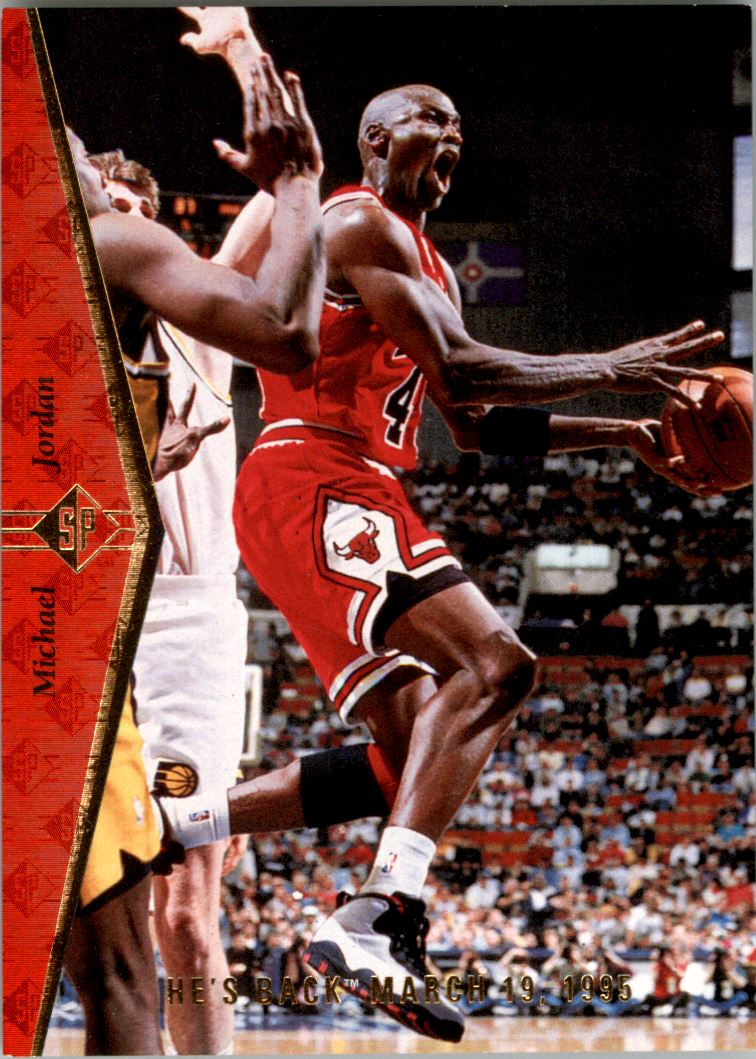 54b3c5b5c06 1994-95 SP Chicago Bulls Basketball Card  MJ1R Michael Jordan Red
