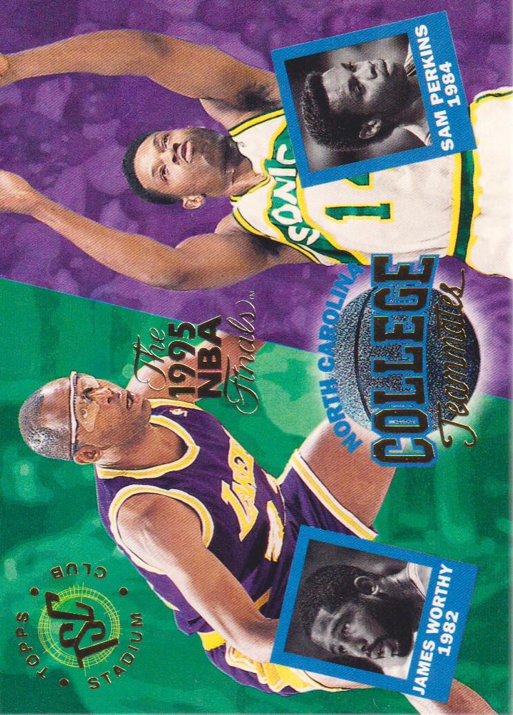 1994-95 Stadium Club Super Teams NBA Finals #114 Sam Perkins CT/James Worthy CT