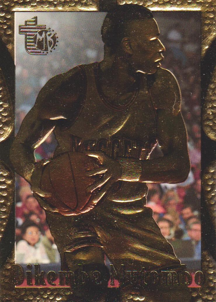 1994-95 Embossed Golden Idols #25 Dikembe Mutombo